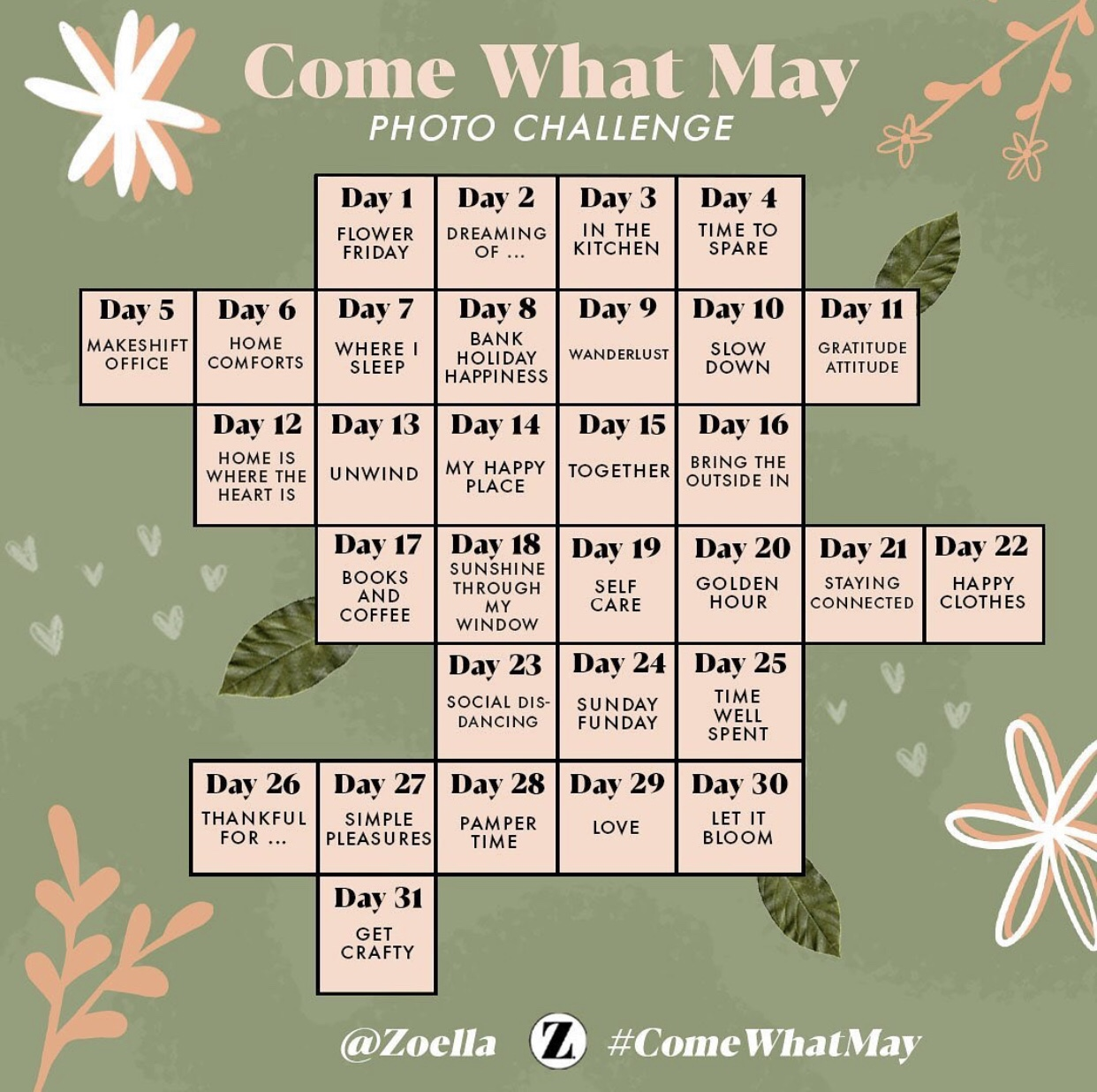Come What May photo challenge from Zoella